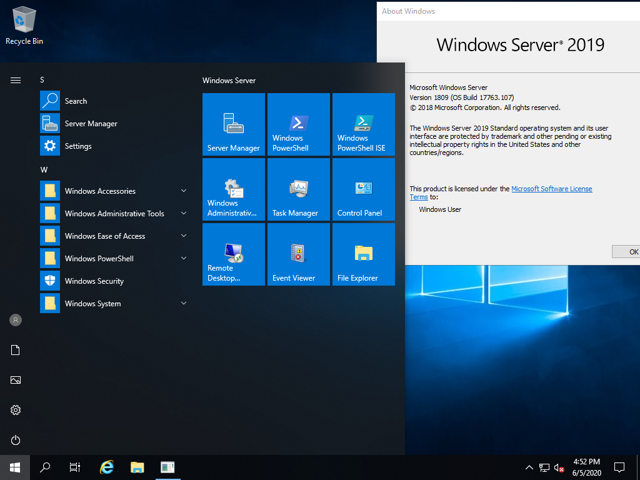 Microsoft Windows Server 2019 Std